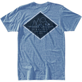 Hippy Tree Diamondhead T-Shirt Heren, heather light blue